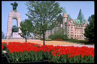 The National War Memorial and the Chateau Laurier